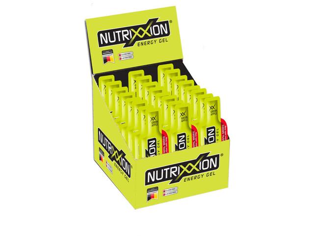 Nutrixxion Energiegel Box met cafeïne 24 x 44g, Green Apple